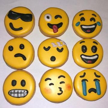 Biscoito decorado emoji