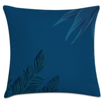 Capa de almofada floral azul