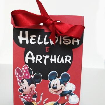 Caixa para lembrancinha Mickey e Minnie