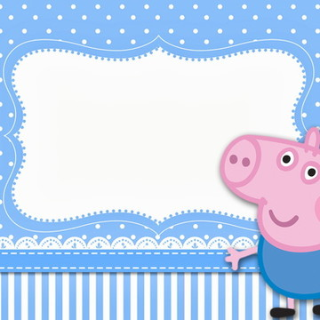 Painel 2x1 George Pig
