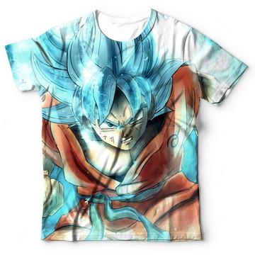 9af2f16479 Camisa Camiseta Blusa Dragon Ball Super Goku Ssj Blue