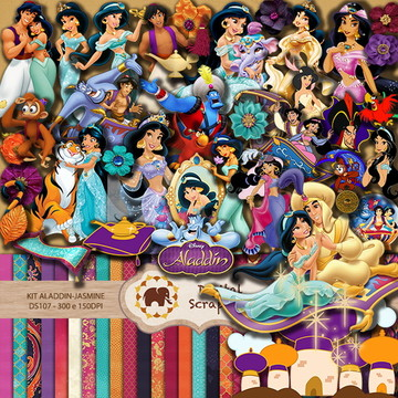 Kit Scrapbook Digital - Aladdin-Jasmine