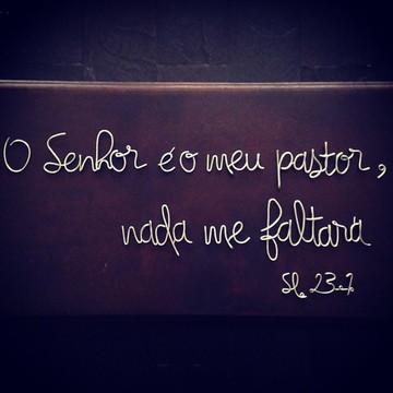 Frase de parede (arame) - O Senhor é meu pastor