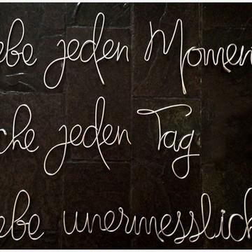 Frases de parede em Alemão (em arame)
