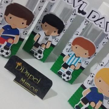 Box para tubete tema Futebol