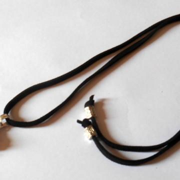 Cordão colar com Pingente cristais