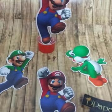 Aplique para tubete tema Mario