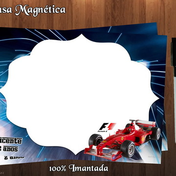 Lousa Magnética Formula 1 - C/ EMBALAGEM