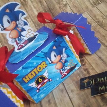 Caixa bala tema Sonic