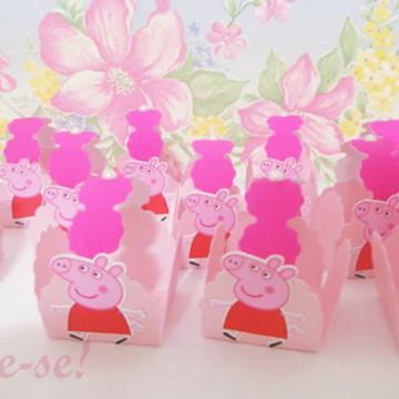 Forminhas para doces com alça Peppa pig