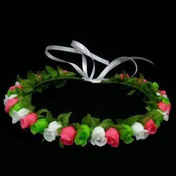 Coroa de flores infantil mini botões