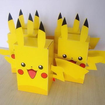MOLDE- Caixa Pikachu - Molde Silhouette