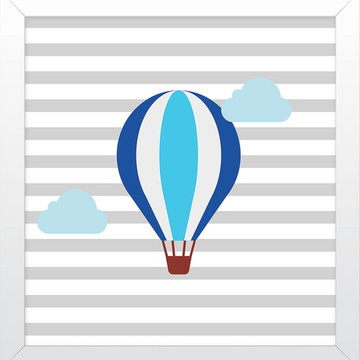 Quadro de balão para Decoração de quarto de bebê