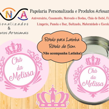 Rótulo Latinha - Coroa Menina