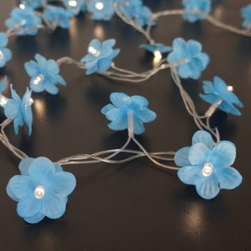 Luz De Fada Florzinha Azul Pilha