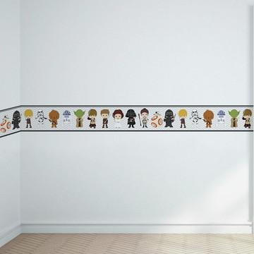 9a983906e Faixa Decorativa Adesiva Star Wars Decoração Infantil 1M