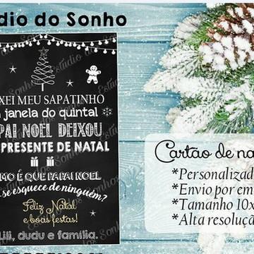 cartão de natal -ARTE DIGITAL