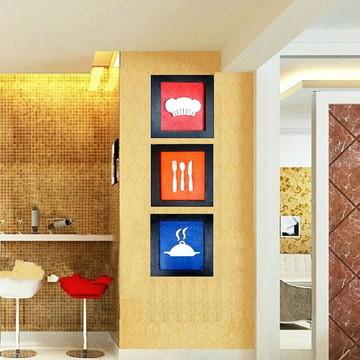 Quadro Coloridos Decorativo de Cozinha 30 x 30 cm,