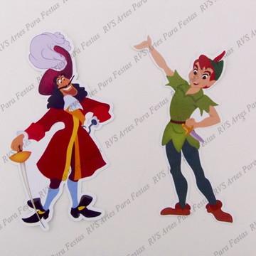 Aplique com 6 cm - Capitão Gancho e Peter Pan