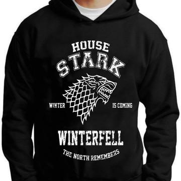 Blusa Moletom Game Of Thrones House Stark Casa Stark