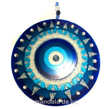 Mandala de Vidro Olho Grego 18cm - 741
