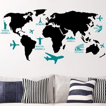 Adesivo Mapa com Pontos Turísticos