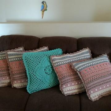 Capa de Almofada de crochê 1 peça