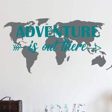 Adesivo Mapa Mundi - Adventure