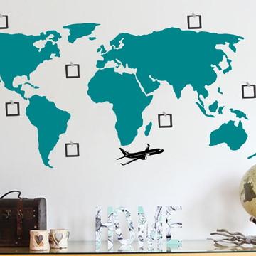 Adesivo Mapa com Moldura para Fotografias