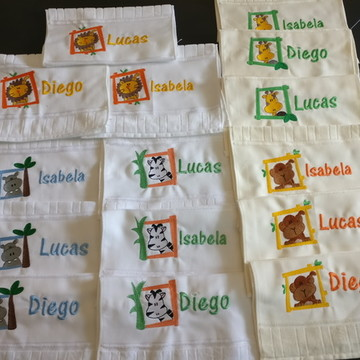 Kit 15 toalhinhas mão bordadas personalizadas toalhas