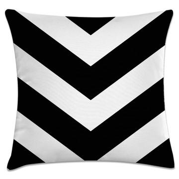 capa almofada seta preto e branco