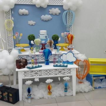 Mesa Decorada - Tema Balões