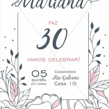 Arte Digital convite 30 anos