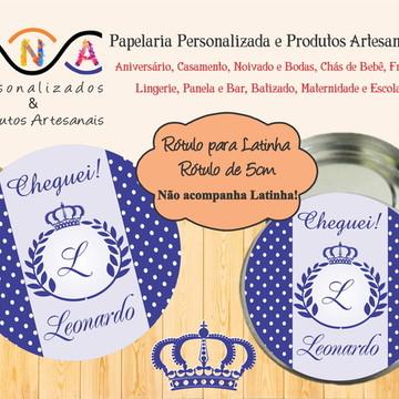 Rótulo para Latinha: Coroa Menino