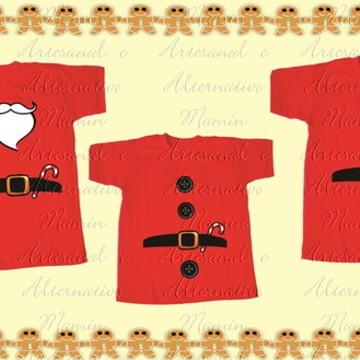 Kit 3 camisetas Natal Roupinha noel