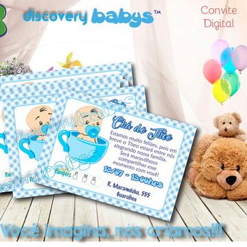 Convite Digital Chá de Bebê Azul