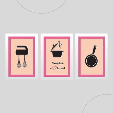 Quadro para decorar cozinha - A cozinha é o coração da casa