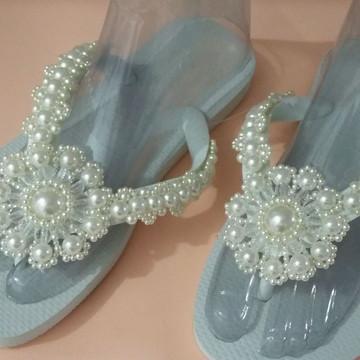 Chinelos pés de Noivas
