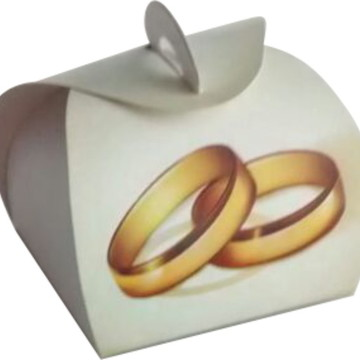 100 pçs Embalagem Bem Casado Alianca
