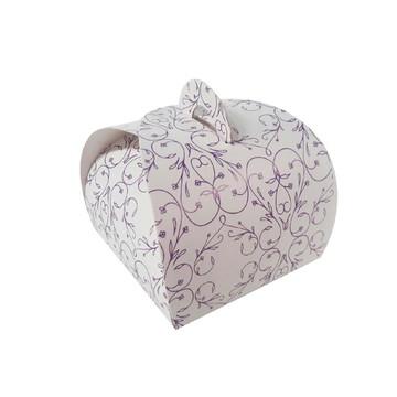 100 pçs Embalagem Bem Casado Branco com Roxo