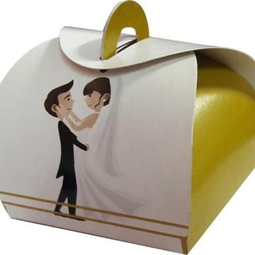 100 pçs Embalagem Bem Casado Casamento