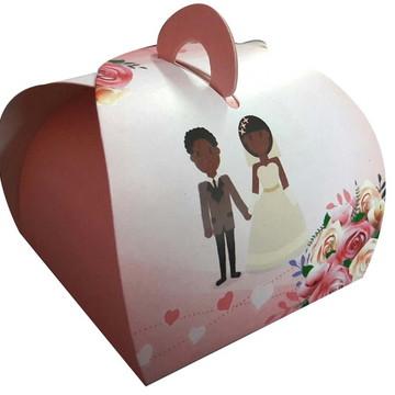 100 pçs Embalagem Bem Casado Casamento rosa