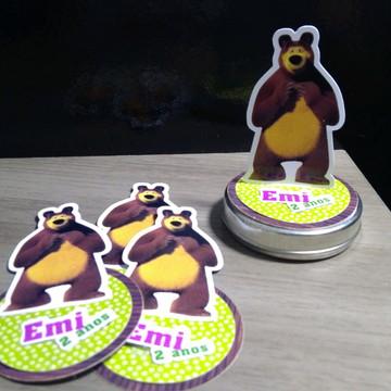 Aplique para Latinha - Mash e o Urso