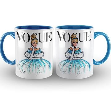 Caneca Vogue Princesas Disney Cinderela