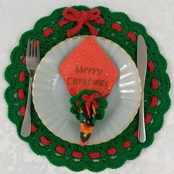 Kit para servir natalino verde