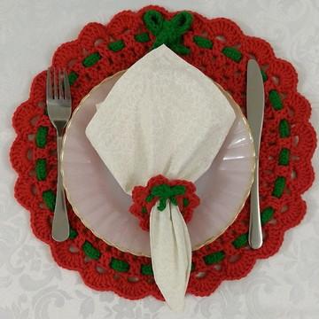 Kit para servir natalino vermelho