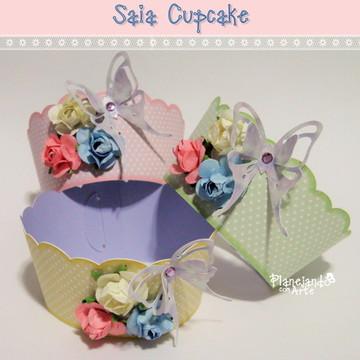 Saia para Cupcake Tema Balão