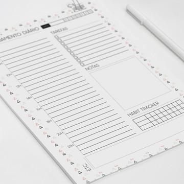 Planner diário coleção minimalista triângulos