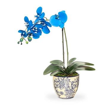Arranjo de Flor Artificial Vaso Porcelana