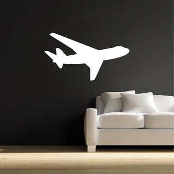 Adesivo Avião Branco